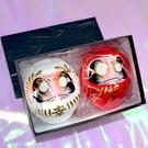 幸福 達摩 達磨 不倒翁 白紅一對禮盒組 群馬縣高崎生產日本製 9cm