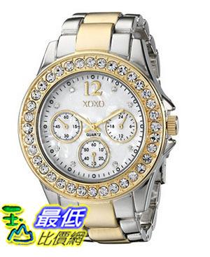 [美國直購] 女錶 XOXO Women s XO5653 Two-Tone Bracelet Analog Watch
