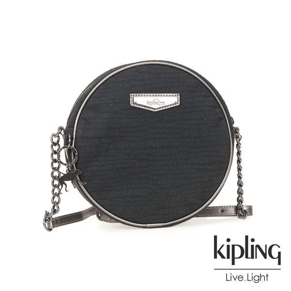 Kipling 復古質感黑側背包-小