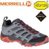 【MERRELL 美國 男款 MOAB GORE-TEX 登山鞋〈灰〉】ML36797/休閒鞋/登山鞋/運動鞋★滿額送