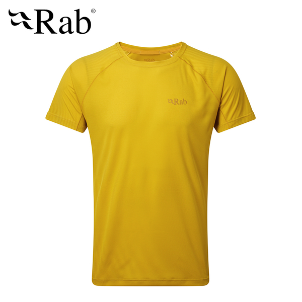 英國 RAB Pluse SS Tee 透氣短袖排汗衣 男款 硫磺 #QBU79