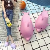 卡通拖鞋女學生可愛夏季男士情侶洗澡防滑沖涼拖鞋室內居家用 【格林世家】