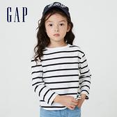 Gap女幼童 碳素軟磨系列 純棉長袖T恤 754599-藍白條紋