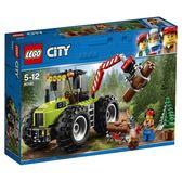 【LEGO 樂高積木】City 城市系列-森林拖拉機 LT-60181