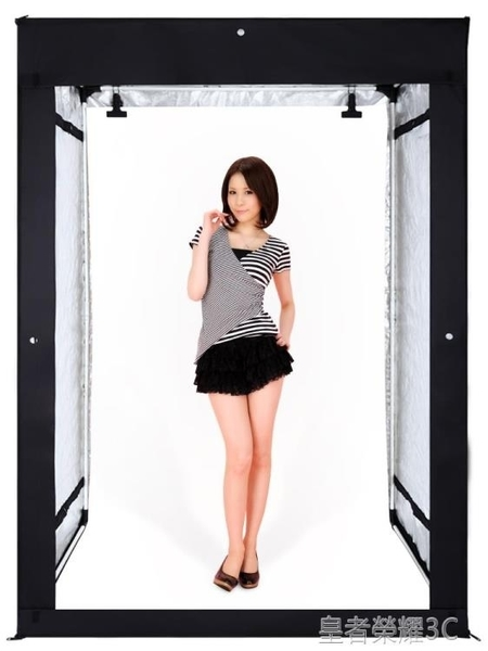 攝影棚 led200cm攝影棚大型專業攝影燈柔光箱室內人像服裝證件照拍照箱設備器材YTL