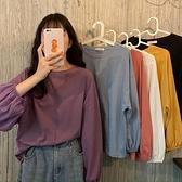 長袖t恤女打底衫上衣春秋季冬2021新款內搭寬鬆百搭純色衣服ins潮寶貝計畫