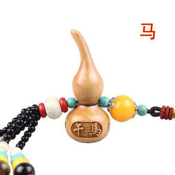 生肖馬桃木葫蘆掛件