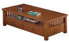 【南洋風休閒傢俱】茶几系列-安德魯胡桃二抽大茶几附小椅凳2個 邊桌 角桌 沙發桌 咖啡桌 (JF260-1)