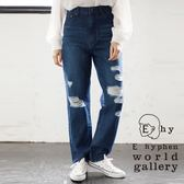 ❖ Hot item ❖ 刷破造型直筒牛仔褲 - E hyphen world gallery