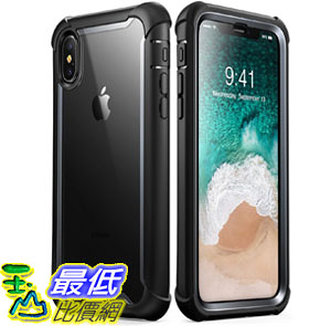 [107美國直購] 保護殼 iPhone X case i-Blason [Ares] Full-body Rugged Clear Bumper Case with Built-in Screen
