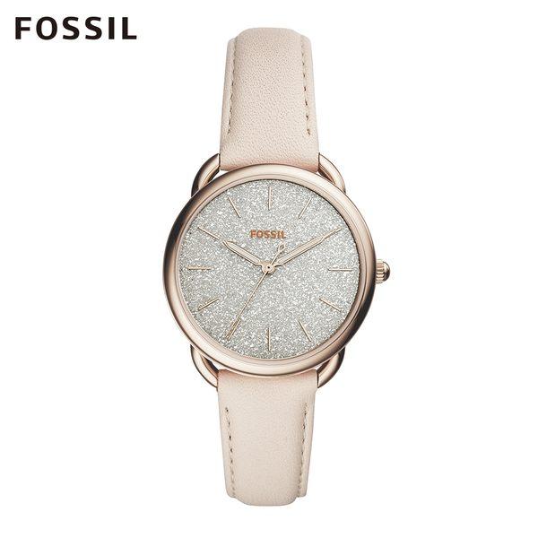 Fossil TAILOR 星光閃耀皮革手錶 女 ES4421