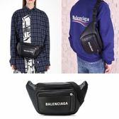 ■專櫃53折■Balenciaga 531933 經典 中性款 Explore Logo 小牛皮腰包 肩背包