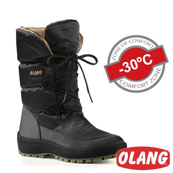 義大利 OLANG LUCY OLANTEX女防水雪靴 黑OL-1603W【-30°雪地/厚鋪毛/防滑】