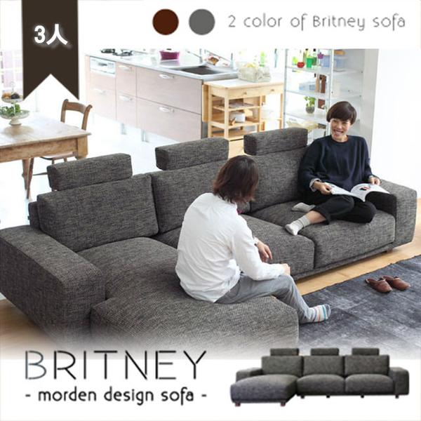 【BNS居家生活館】BRITNEY純粹北歐風格L型布沙發