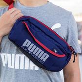 PUMA Sole多層運動腰包 斜背包 肩包 側背包 男女 藍紅 07499902 熱賣中!