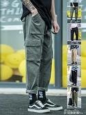 工裝褲春季 男士潮牌薄款寬鬆直筒休閒褲韓版潮流ins束腳長褲子男 新年特惠