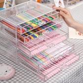 少女創意桌面筆筒收納盒亞克力日式學生大容量收納筒個性簡約 快速出貨