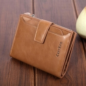 新款男士錢包短款多功能拉鍊大容量皮夾