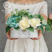 仿真花假花絹花玫瑰套裝樣板房擺件客廳餐桌花藝擺設節日禮物花藝