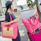 折疊購物袋帆布旅行袋包衣物整理袋大容量收納袋可跨行李箱手提包 八月專屬價