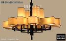 INPHIC-新中式吊燈仿古酒店會所工程燈飾大氣創意中國風古典客廳鐵藝吊燈-8頭  106x106xH100cm_S3081C