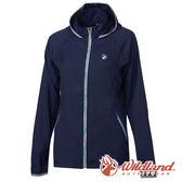 【wildland 荒野】女 彈性抗UV輕薄外套『深藍』0A61901 防風外套 連帽外套 輕薄 透氣 時尚 戶外