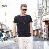 短袖T恤 夏季男士短袖T恤 英倫風男裝衣服 純色夏裝歐美上衣潮體恤 芊惠衣屋