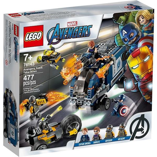 樂高積木 LEGO《 LT76143》SUPER HEROES 超級英雄系列 - Avengers truck╭★ JOYBUS玩具百貨