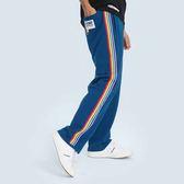 彩虹織帶運動褲 STAGE RAINBOW SWEATPANTS 黑色/藍色 兩色