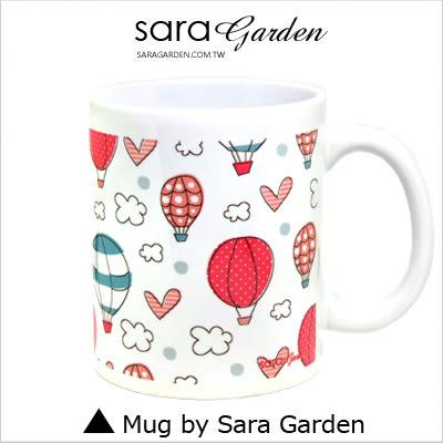 客製 手作 彩繪 馬克杯 Mug 手繪 插畫 輕旅行 愛心 熱氣球  咖啡杯 陶瓷杯 杯子 杯具 牛奶杯 茶杯