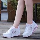 搖搖鞋 搖搖鞋女2021秋季新款網面透氣運動鞋厚底增高休閒健步鞋品牌單鞋 美物