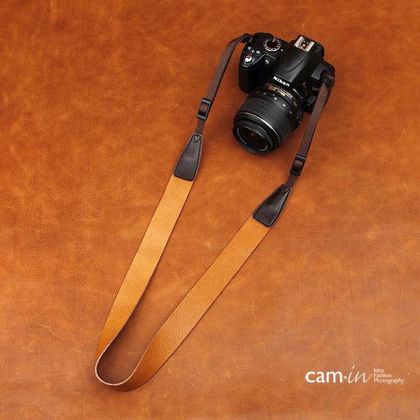 【數配樂】Cam-in 真皮皮革 皮質 寬版相機背帶 CAM2242 棕色紋 650D 7D 5D2 5D3 70D D600 D700 D7100