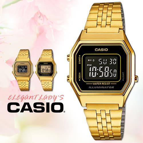 CASIO 手錶專賣店 卡西歐 LA680WGA-1B 女錶 電子錶 鬧鈴 數字顯示 不銹鋼錶帶