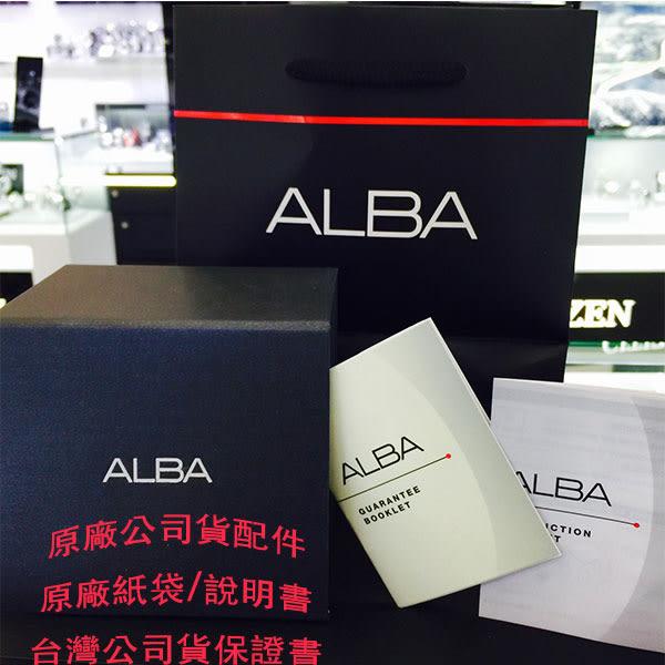 ALBA 潮流切割造型計時碼表三眼鋼帶男錶 42mm黑 AF8P11X YM92-X189D | 名人鐘錶高雄門市