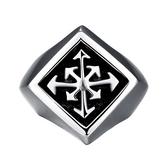 鈦鋼戒指 菱形-歐美復古個性百搭生日情人節禮物男飾品73le226【時尚巴黎】