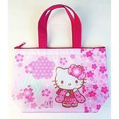 【五折】凱蒂貓 櫻花 便當袋 手提袋 保溫 日本正版 該該貝比日本精品