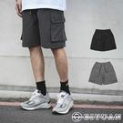工裝短褲【OBIYUAN】 防風 寬鬆 拉鍊口袋 工作褲共2色【Y0932】