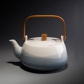 水壺-陶瓷原木手把家用茶壺3款74aj43[時尚巴黎]