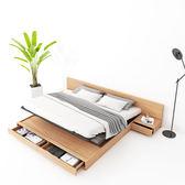 床架 北歐榻榻米床板式雙人床1.8米現代簡約日式實木主臥高箱儲物矮床