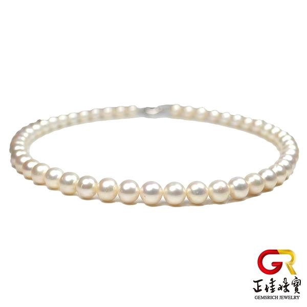 天然淡水珍珠項鍊 高光潤澤 10mm 珍珠項鍊 頂級珍珠項鍊 925銀扣電鍍白K 正佳珠寶