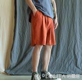 @港仔文藝男 夏季男士運動短褲韓版潮流休閒褲學生寬鬆百搭五分褲 LOLITA
