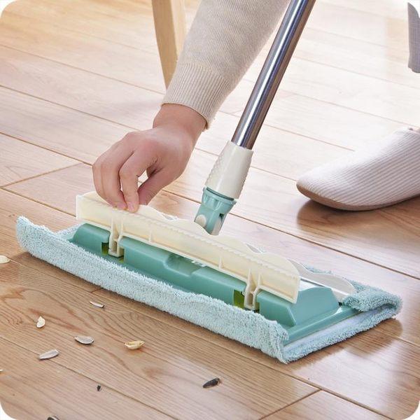 優思居 家用平板拖把 360度旋轉拖把夾固式拖布木地板瓷磚地拖jy【夏季狂歡八八折搶購】