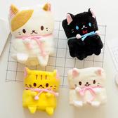 【BlueCat】寵物貓咪可捲曲收納毯 小毛毯 懶人毯