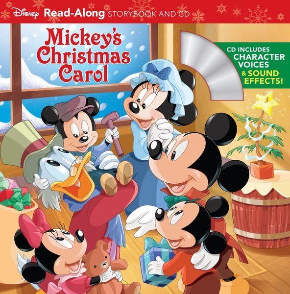 【麥克書店】MICKEYS CHRISTMAS CAROL READ ALONG STORYBOOK/英文繪本附CD‧聽迪士尼說故事