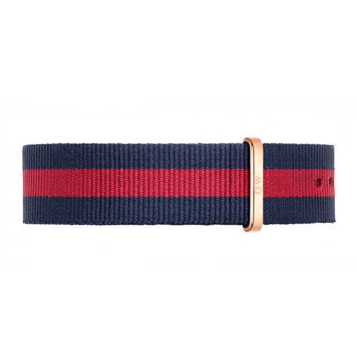 DW Daniel Wellington 藍紅帆布錶帶/20mm(0301DW)