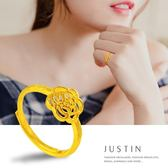 Justin金緻品 黃金女尾戒 繁花朵朵 金飾 黃金戒指 純金女戒 花朵造型 招財戒指 9999純金