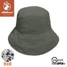 【Wildland 荒野 中性 抗UV雙面漁夫帽《深卡灰》】W1063/防曬帽/圓盤帽/漁夫帽/遮陽帽/園藝/登山