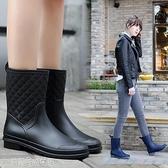雨靴 雨鞋女中筒防滑水靴夏季雨靴成人平底膠鞋防水套鞋  【快速出貨】