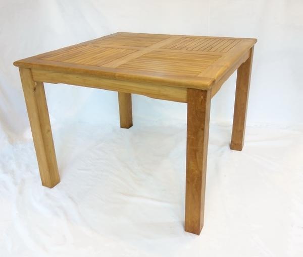 【南洋風休閒傢俱】戶外餐桌椅系列-100公分柚木方桌  戶外實木餐桌 (#092T)