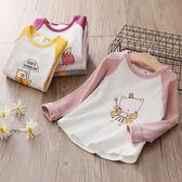 現貨  寶寶卡通T恤 2019春裝新款女童童裝兒童圓領上衣 (2-8歲)  T恤 長袖